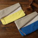 倉敷帆布二つ折りクラッチバッグ