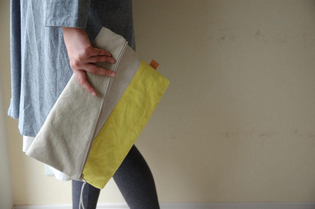倉敷帆布*A4サイズのクラッチバッグ