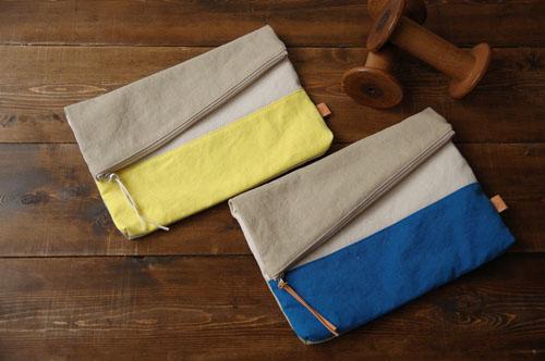 倉敷帆布*A4サイズのクラッチバッグのデザイン