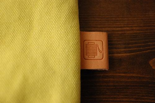 倉敷帆布*A4サイズのクラッチバッグのネーム
