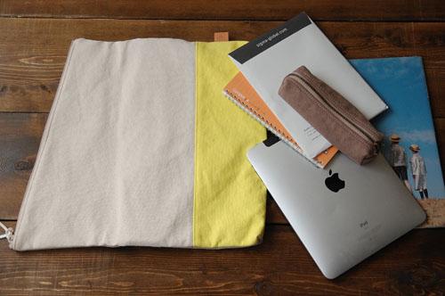 倉敷帆布*A4サイズのクラッチバッグ収納力