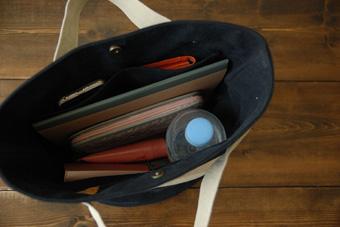 倉敷帆布バケットMの2分割ポケット