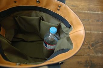 倉敷帆布トート型リュック<サハラ>の2分割ポケット