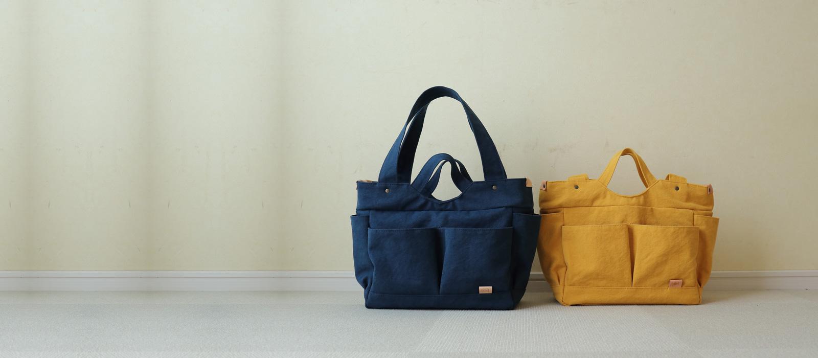 多ポケット A4サイズ対応 2Way肩掛けトートバッグお散歩2Wayトートバッグ