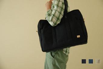A3サイズ対応 大容量 倉敷帆布 多ポケット ボストンバッグ(全3色)