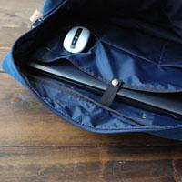 倉敷帆布ボストンバッグ<ブルー>の裏地の色