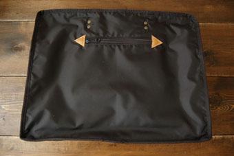倉敷帆布ボストンバッグ<ブラック>のファスナーポケット